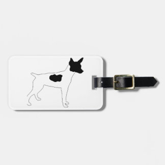 rat terrier color silhouette luggage tag