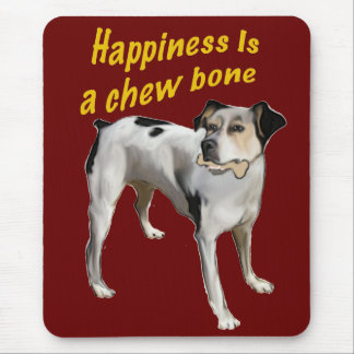 rat terrier happiness mouse mat