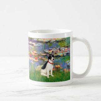 Rat Terrier - Lilies 2 Basic White Mug