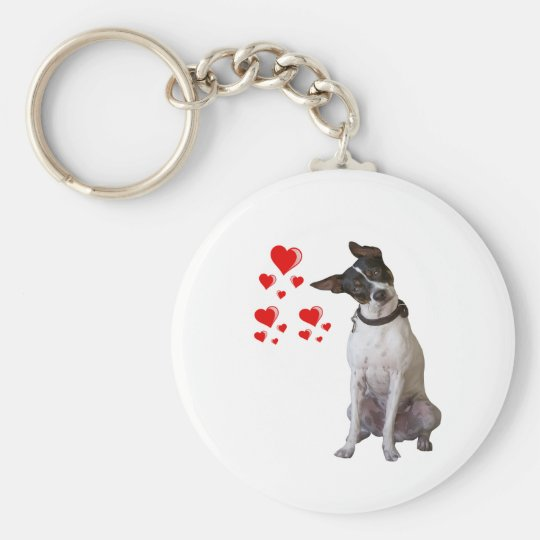 Rat Terrier Love Key Chain