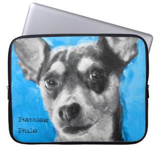 Rat Terrier, Modern Art, Laptop Sleeve