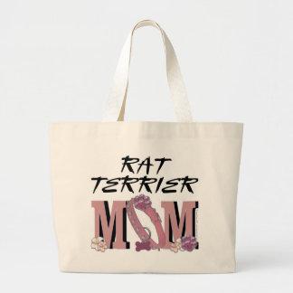 Rat Terrier MOM Large Tote Bag