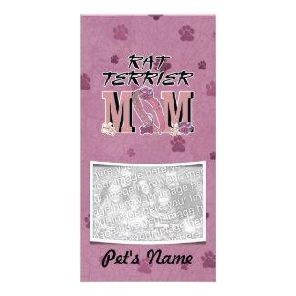 Rat Terrier MOM Custom Photo Card