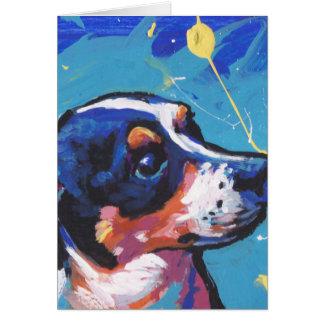 Rat Terrier Pop Art Greeting Card