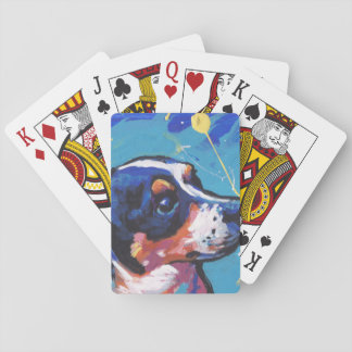 Rat Terrier Pop Art Playing Cards