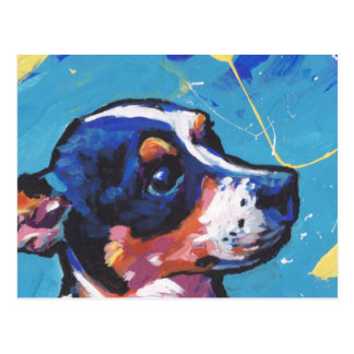 Rat Terrier Pop Art Postcard