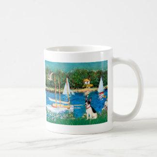 Rat Terrier - Sailboats Basic White Mug