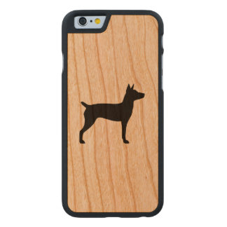 Rat Terrier Silhouette Carved Cherry iPhone 6 Case