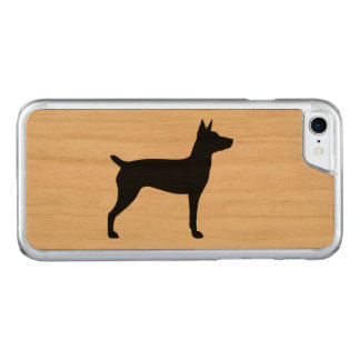 Rat Terrier Silhouette Carved iPhone 7 Case