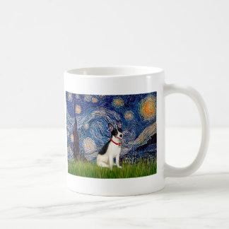 Rat Terrier - Starry Night Basic White Mug