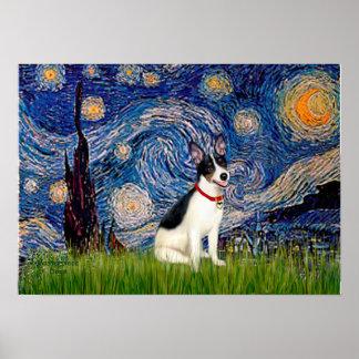 Rat Terrier - Starry Night Poster
