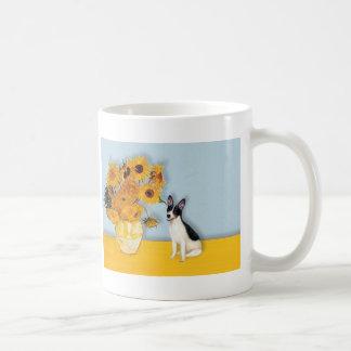 Rat Terrier - Sunflowers Basic White Mug