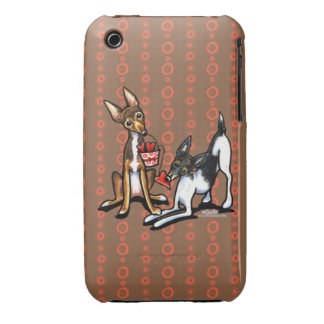 Rat Terrier Sweethearts Case-Mate iPhone 3 Cases