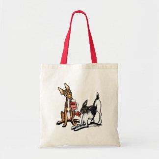 Rat Terrier Sweethearts Tote Bag