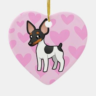 Rat Terrier / Toy Fox Terrier Love Christmas Ornament
