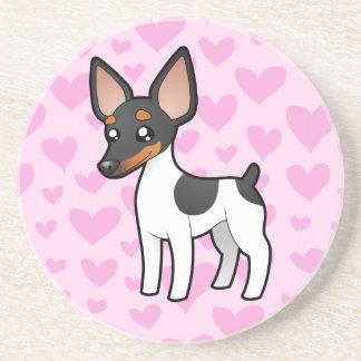 Rat Terrier / Toy Fox Terrier Love Coasters