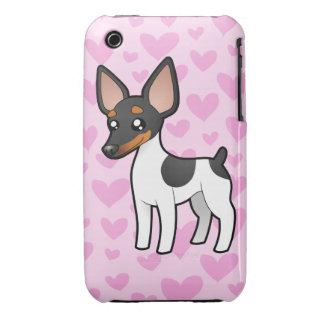 Rat Terrier / Toy Fox Terrier Love iPhone 3 Cases