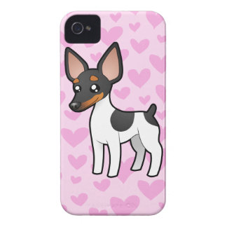 Rat Terrier / Toy Fox Terrier Love iPhone 4 Case-Mate Cases