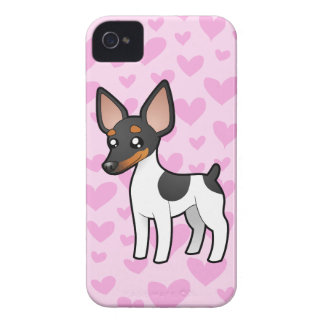 Rat Terrier / Toy Fox Terrier Love iPhone 4 Cover