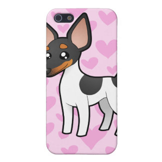 Rat Terrier / Toy Fox Terrier Love iPhone 5/5S Cases