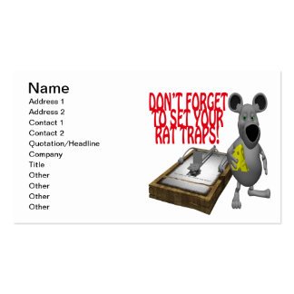 Rat Traps Pack Of Standard Business Cards