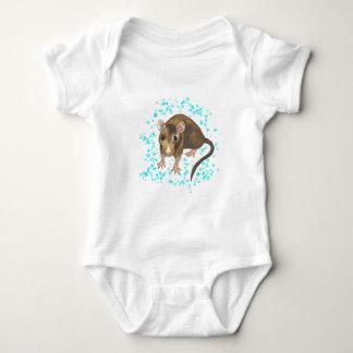 Rat Watercolour Baby Bodysuit