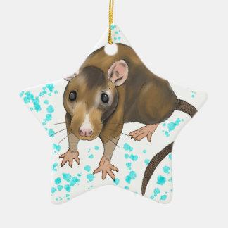 Rat Watercolour Christmas Ornament
