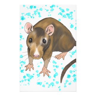 Rat Watercolour Stationery