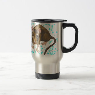 Rat Watercolour Travel Mug