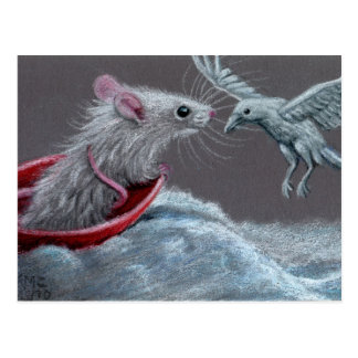 Rat White Raven Postcard