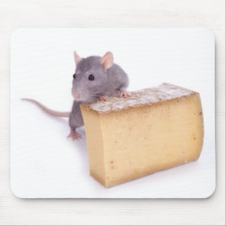 rat with cheese mouse mat