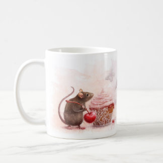 Rat with cupcake coffee mug