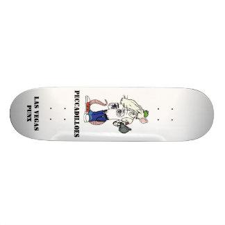 rat with white back, PECCADILLOES, LAS VEGAS PUNX Skate Board