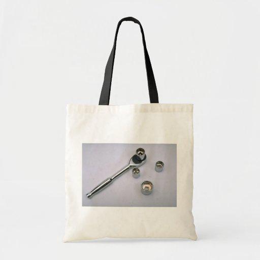 Ratchet and three sockets canvas bag