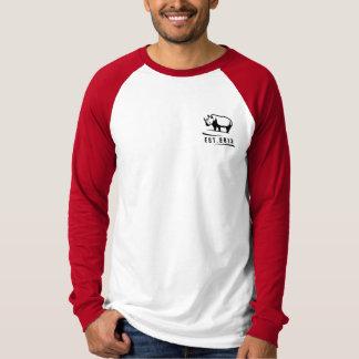 Rate Rhino Red Baseball T T Shirt