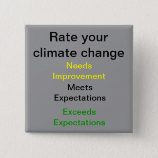 Rate your Climate Change 15 Cm Square Badge
