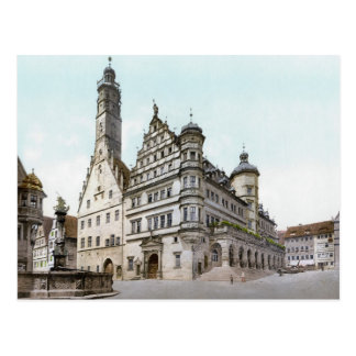 Rathaus of Rothenburg Postcard