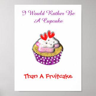 Rather Be A Cupcake Than A Fruitcake Poster