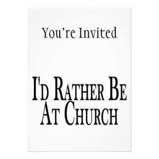 Rather Be At Church Personalized Announcement
