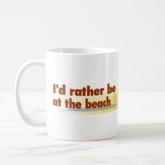 Rather Be At The Beach Basic White Mug