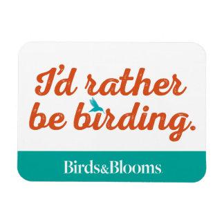 Rather be Birding Rectangular Photo Magnet