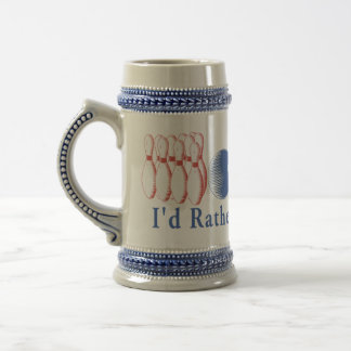 Rather Be Bowling Beer Stein