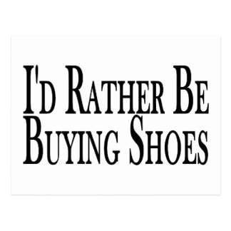 Rather Be Buying Shoes Postcard