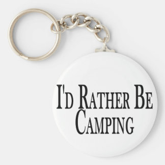 Rather Be Camping Basic Round Button Key Ring
