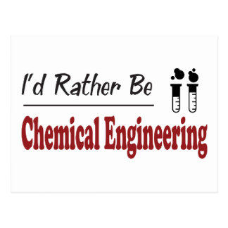Rather Be Chemical Engineering Postcard
