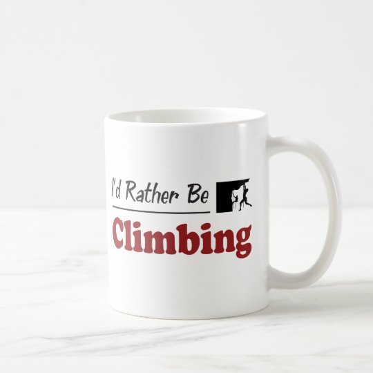 Rather Be Climbing Coffee Mug