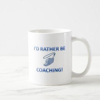 Rather be coaching basic white mug