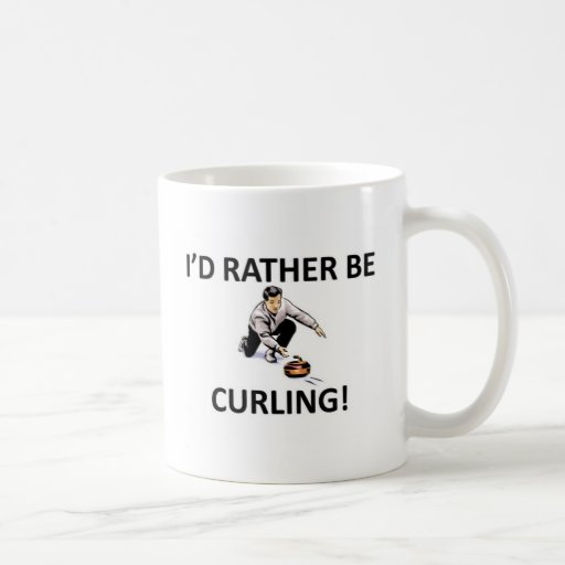 Rather be curling coffee mugs
