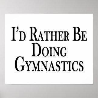 Rather Be Doing Gymnastics Poster