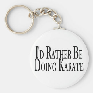 Rather Be Doing Karate Basic Round Button Key Ring
